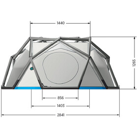 Heimplanet The Cave Tent grey/blue